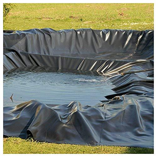 PVC Teichfolie 0,3mm Stärke Schwarze Fisch und Pflanzenfreundlich, UV und Witterungsbeständig Schwimmteich Folie Gartenteich Teichplane Aquagart Garten Teichzubehör, m(Size:5x16ft/1.5x5m,Color:0.3mm)