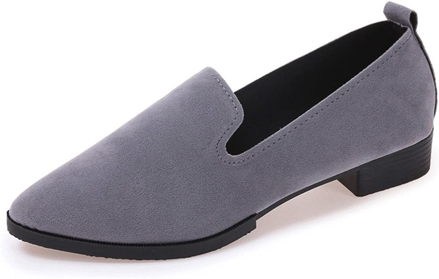 Xinantime Solid color Loafer shoes Ladies Casual Single shoes Slip On Flat Sandals Shallow Mouth Small shoes