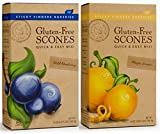 Sticky Fingers Bakeries Gluten Free Scone Variety Mix, Meyer Lemon and Wild Blueberry (Pack of 2)