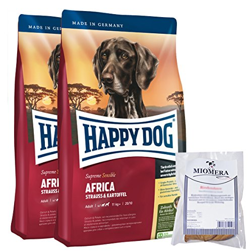 Happy Dog Supreme Sensible Africa 2x12,5kg + MIOMERA gratis Snack