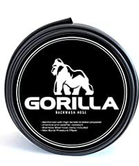 ***BIG SUMMER BLOWOUT $10 off regular price*** GORILLA Backwash hoses are 5X stronger than standard blue hoses Caution: This is not your typical flimsy blue hose found at your local pool store. This is a heavy-duty reinforced commercial grade PVC hos...