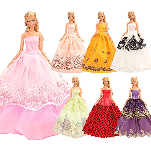 Miunana 5 Handmade Hochzeit Party Abendkleid Kleider Kleidung für 11,5 Zoll Mädchen Puppen