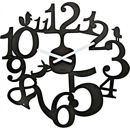 Koziol Wanduhr Große Wand Uhr - Pip Schwarz