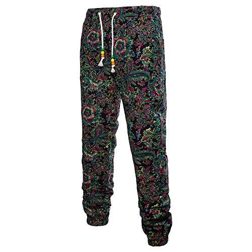 UONQD Men Trousers Harem Sweatpants Slacks Jogger Sportwear Baggy Comfy Pants (XXXXX-Large,Black)