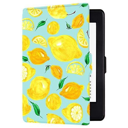 Huasiru Pittura Custodia Copertura per Kindle Paperwhite - NON adatta per il modello 2018 (10ª generazione), Limone