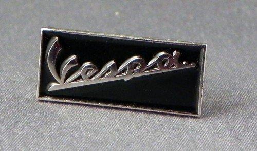 Mainly Metal Pin de métal émail Broche Vespa nom Rectangle (chromé en Noir)