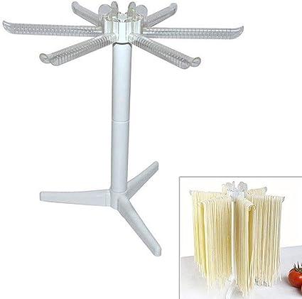 Pasta de espagueti de fideos Estante de secado Secador de pie Herramienta de cocina plegable Herramienta de cocina plegable verde