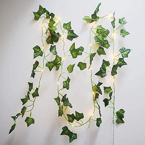 Atlnso Led Light Fairy String Lights Leaf Rattan Vine Fairy Lights Twig Lights Battery Operated for Christmas Halloween Wedding Decoration Party 2M 20 LED