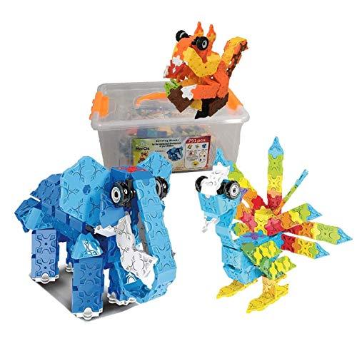 Bloques de construcción para 3 animales| 791 pzs para construir simultáneamente ardilla, elefante, ave. Con folleto detallado| Juguete de ingeniería para niño y niña 6 7 8 9 10+ años| Regalo creativo