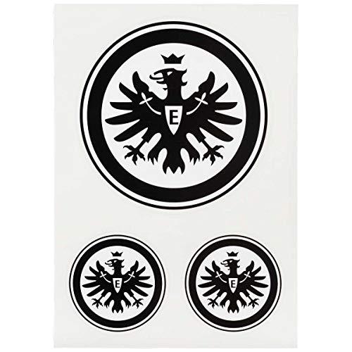 Eintracht Frankfurt Aufkleberkarte 3er Set Logo schwarz E, Aufkleber, Sticker SGE - Plus Lesezeichen I Love Frankfurt