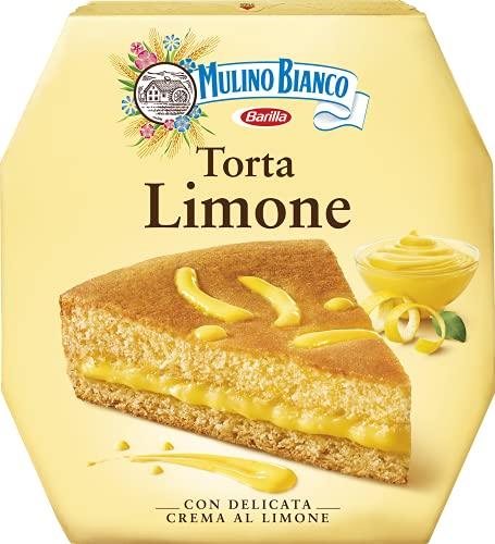 Mulino Bianco Torta Pronta da Gustare con Crema al Limone, per una Merenda Morbida e Profumata, 640 g