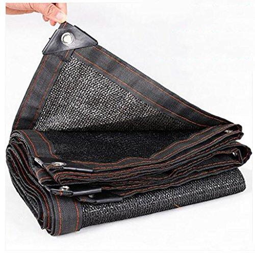Parasol net noir cryptage épaississement isolation net balcon crème solaire net été plante verte viande ombrage net voile de voile parasol (Couleur : A, taille : 3 * 5m)