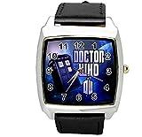 Quarz-Armbanduhr SCI FI schwarz Echtlederband E2