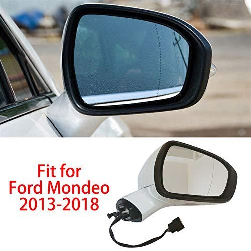 Cubierta del espejo retrovisor Vista lateral Espejo Ajuste automático Ajuste potencia plegable Vista climatizada Espejo con ajuste de plástico de automóvil ligero fit for Ford Fusion 2013 2014