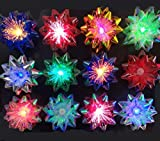 Light Up Glowing Gift Bows, 6 Iridescent LED Ribbon Bow for Gift Packaging and Decorations-...