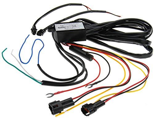 DRL Nebelscheinwerfer Relais Tagfahrlicht LED Lichter Controller Auto DRL LED Relais Steuerung Automatischer Ein-/Ausschalter Kabelbaum Decoder DC 12 V