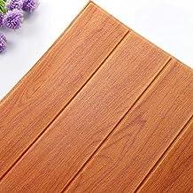 MUMUWU 0.7x0.7M Wood Grain Self Adhesive 3D Wallpaper Soft Package Kids Room Kindergarten Walls Decoration Waterproof (Col...