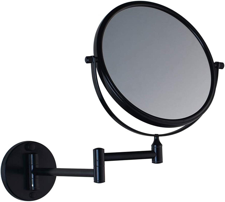 LUDSUY Makeup Mirror Professional Vanity Mirror Health Beauty Adjustable Wall Mounted Extending Folding 360 Degree Swivel,ABathroom Accessories