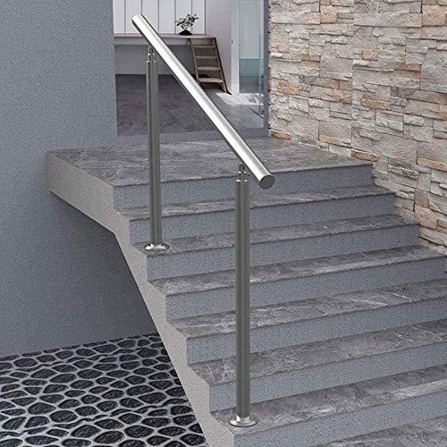 XHCP Treppenhandlauf aus Edelstahl, für den Innen- und Außenbereich Balkon, Treppenhandlauf Länge: 100 cm / 120 cm