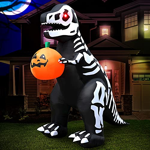 Holidayana 8 ft Halloween Inflatable Skeleton...