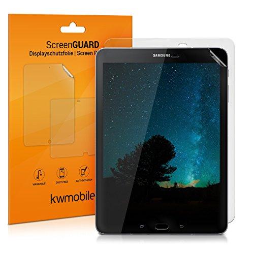 kwmobile 2X Folie kompatibel mit Samsung Galaxy Tab S3 9.7 T820 / T825 - Full Screen Tablet Schutzfolie entspiegelt