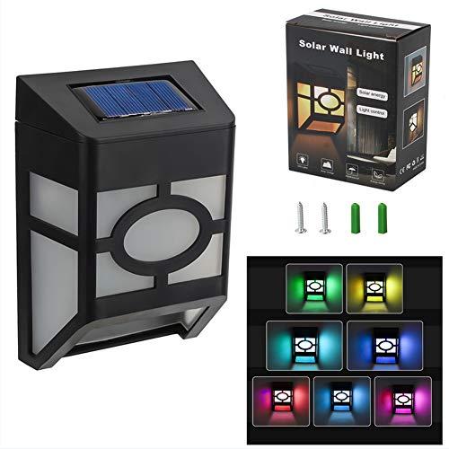 Luz Solar Exterior,3D.Mr.Señor [Versión Última ] 2 LED Foco Solar con Sensor de Movimiento Wireless Seguridad Impermeable Inalámbrico 7 Colores para Jardín Patio1-Paquete(Colores Redondo)