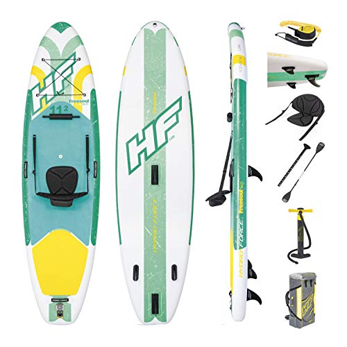 Bestway Hydro-Force SUP Freesoul Tech stand-up paddling board opblaasbaar met zitfunctie, 340 x 89 x 15 cm