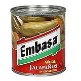 Embasa Whole Jalapenos, 12 oz