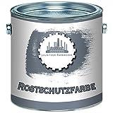 Lausitzer Farbwerke Rostschutz-Grundierung traditionelle Rostschutz-Farbe in Hell-Grau und Rot-Braun (1 L, Hellgrau)