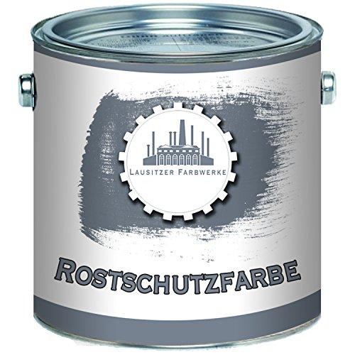 Lausitzer Farbwerke Rostschutz-Grundierung traditionelle Rostschutz-Farbe in Hell-Grau und Rot-Braun (1 L, Rotbraun)