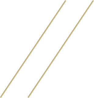 Sutemribor Brass Solid Round Rod Lathe Bar Stock, 1/8 Inch in Diameter 14 Inches in Length (2 PCS)