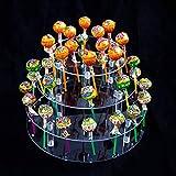 KINJOEK 35 Holes Lollipop Holder 4 Tier Acrylic Cake Pop Stand