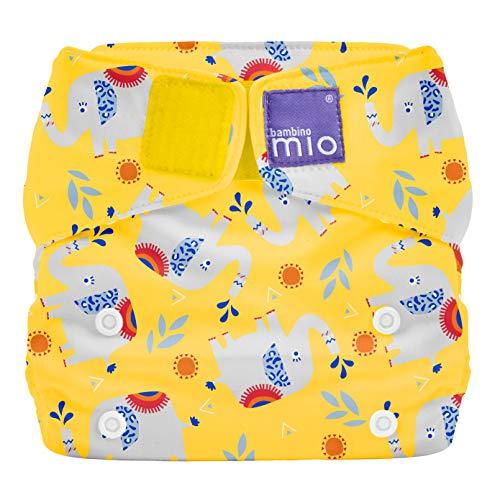 Bambino Mio SO ELE miosolo All-in-One Stoffwindel, Elefanten Stampfen, mehrfarbig