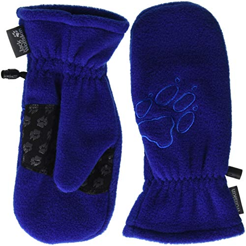 Jack Wolfskin Fleece Mitten Kid's Fleece Mittens Gloves, Royal Blue, Size92(18-24)