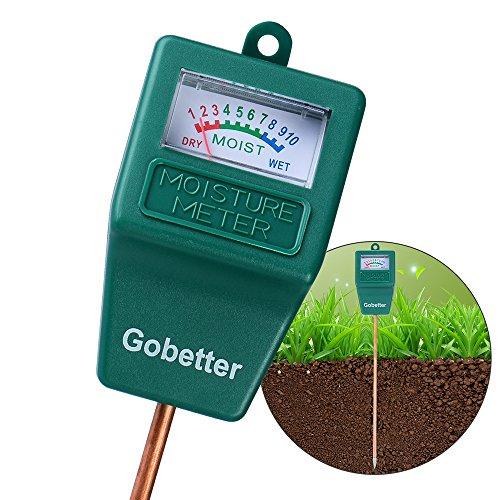 Gobetter Soil Moisture Meter, Plant Water Meter Indoor & Outdoor, Sensor Hygrometer Soil Tester for Potted Plants, Garden, Lawn, Farm (No Battery Needed) (Green)