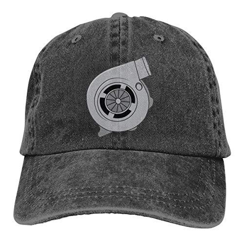 JDM Turbolader Cap Baseball Hat Verstellbar Schwarz