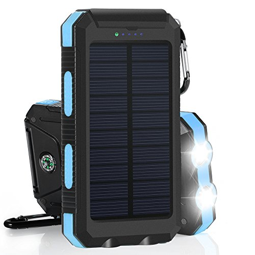 10000mAh Cargador Solar Impermeable,...