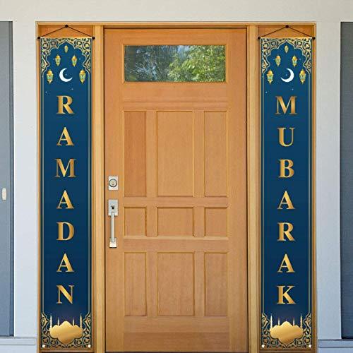 Ramadan Mubarak Dekorationen Banner islamische Eid Festival Feier Willkommen Veranda Schild Muslim Ramadan Party Dekor und Zubehör für Zuhause