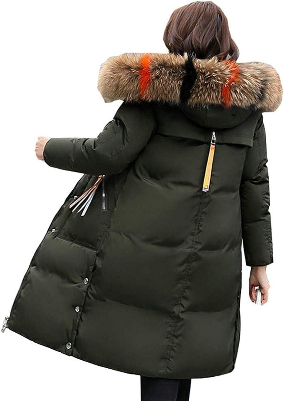 Dotoo Cotton Women's Long Cotton Clothing Fashion Slim Big Fur Collar Winter