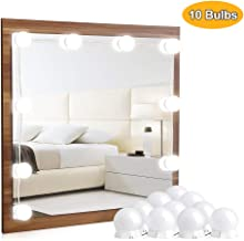 Vanity Lights for Mirror - Hollywood Style LED Vanity Mirror Lights Kit with Dimmable Light Bulbs for Makeup Dressing Table Mirror and USB Power Supply Plug in Lighting Fixture Strip, 10 Bulbs