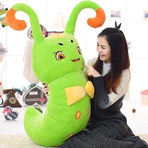 HJYHXY 40/50/80 cm sarà Chiamato Niangqin Tangbao Pet Spirit Verme Peluche Bambola-Green_50cm