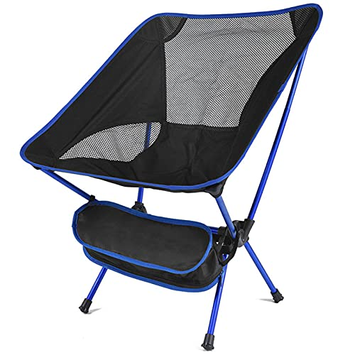 WYYUE Compact Folding Chair Fishing Chair, Ultralight Portable Camping Chair, Carry Bag Included,​ Oversized Camping Sports Chair for Outdoor and Camp