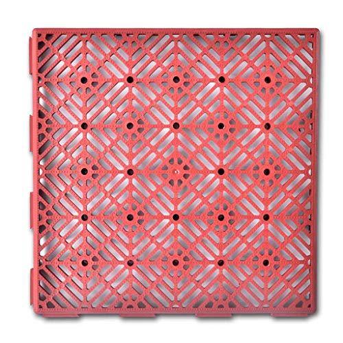 vidaXL 24x Garden Floor Tiles Plastic 29x29cm Walkway Grid Flooring Carpet