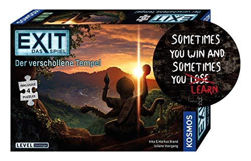 Collectix Kosmos 692094 EXIT - Das Spiel + Puzzle: Der verschollene Tempel (Level: Einsteiger) + Sometimes You Win..-Sticker by