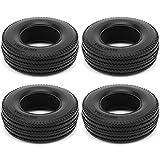 BIKING Neumáticos RC Neumáticos de Rueda, 4 Piezas RC Neumáticos de Goma pequeños Neumáticos de Rueda para Camiones Tractores Tamiya 1/14 Coche de Control Remoto