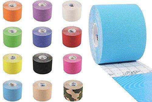 Tapefactory24 7 Rollen - ORIGINAL KINESIOLOGIE Tape 5 cm x 5 m IN 12 FREIE Farbwahl - Für Sportler und Physiotherapeuten