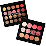 BYS Sweet Cheeks and Ablaze Face Palette - Eyeshadows, Blush & Highlighters Collection Set - Complete Beauty Kit