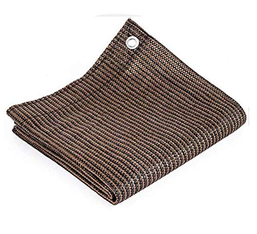 BCLGCF Brown Patio Shade Cloth, 98% Uv Resistant Sunblock Shade Mesh with Grommets, Outdoor Cover Awning Shelter for Pergola Backyard Garden Yard,6ft x 10ft