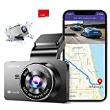 AZDOME 4K Dash Cam, Built-in GPS/WiFi Dual Dash Cam for Car, 3' UHD Display Car Camera - Dash Cam Front and Rear with Sony Sensor, 170° FOV, WDR, Night Vision, Parking Monitor, 32G SD Card (Included)