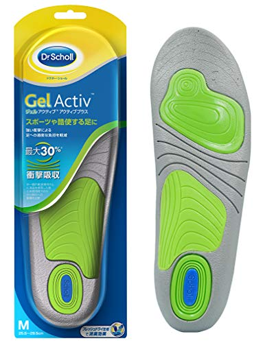 Insole Shock Absorption Insole Deodorant Dr. Scholl's Gel Active Active Plus For strong shocks such as exercise M (25.5cm-29.5cm)